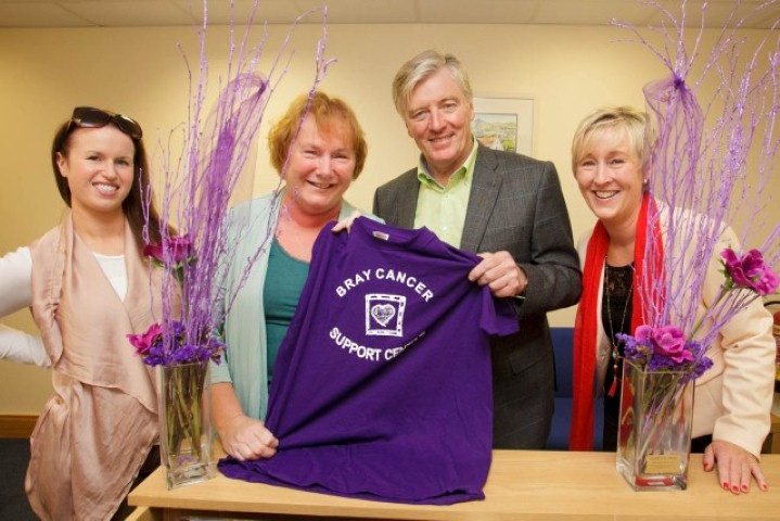 Broadcaster Pat Kenny pictured with Bray Cancer Support Centre volunteers L - R: Karla Clifford, Veronica O'Leary CEO, Carmel Robinson.